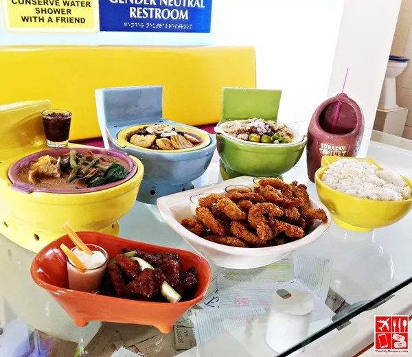 Dishes served at Boracay Toilet