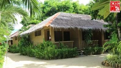 A tropical-inspired room at Casa Pilar Beach Resort Boracay