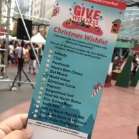 Give Wellness Christmas Wishlist at the Robinsons Supermarket Give Wellness event