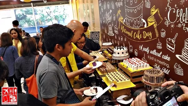 Guests having cake-all-you-can at Goldilocks National Cake Day