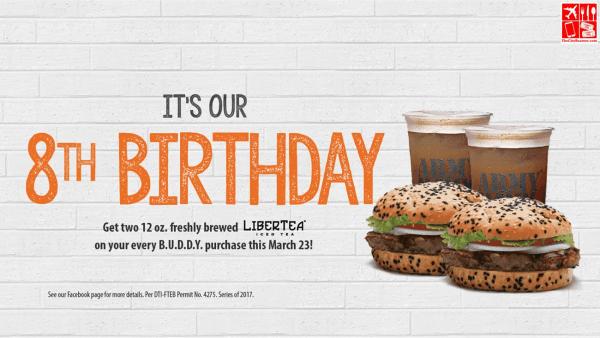 ArmyNavy Burger + Burrito Celebrates 8th Birthday