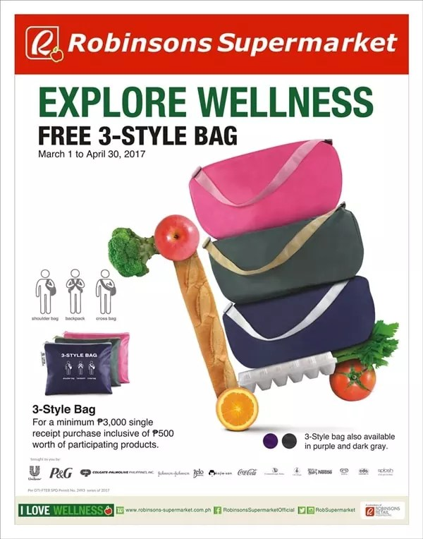 Explore Wellness at Robinsons Supermarket and get a free 3-style bag