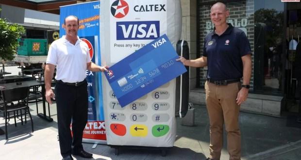 At the Caltex Visa payWave launch