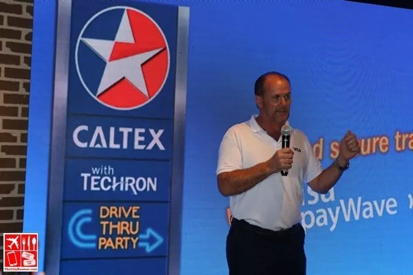 Stuart Tomlinson- Visa Country Manager for Philippines and Guam at the Caltex Visa payWave event