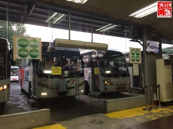 Jam Liner Buses waiting for riders