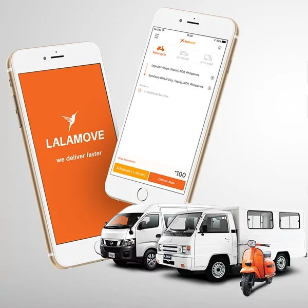 Use smartphone when booking Lalamove