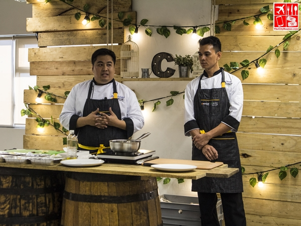 Chef Mark Javier Ledesma of MIASCOR with his sous chef