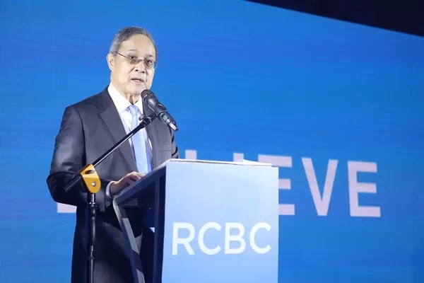 RCBC President and CEO Mr Gil A Buenaventura delivers the opening remarks