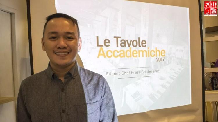 Chef Jam Melchor during the Le Tavole Accademiche 2017 Philippine presscon