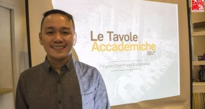 Chef Jam Melchor during the Le Tavole Accademiche 2017 Philippine presscon