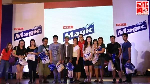 Raffle winners at the Magic Crackers Magic Moments event