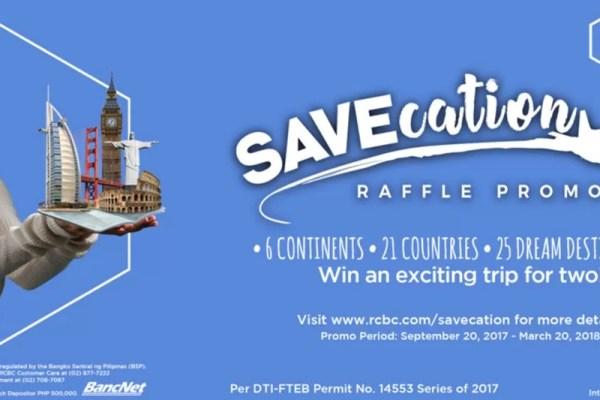 RCBC SAVEcation Raffle Promo