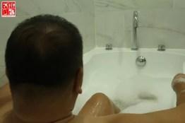 chilling at the bathtub