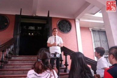 Entering the Pamintuan Mansion