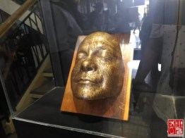 The death mask of Fernando Poe Jr by National Artist Napoleon Abueva on display at the Center for Kapampangan Studies