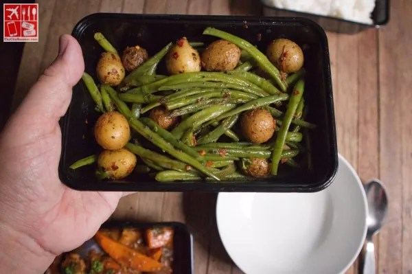 French Beans with Marbled Potatoes