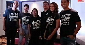 WWF-Philippines National Ambassadors Rovilson Fernandez Marc Nelson, Iza Calzado with National Youth Ambassador Janine Gutierrez with Joel Palma and Atty Gia Ibay