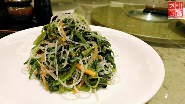 Chilled Baby Spinach with Vermicelli (Php288)