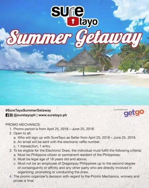 SureTayo Summer Getaway Promo Mechanics