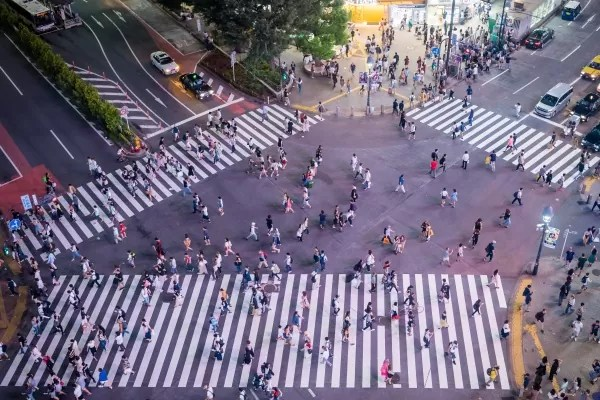 Shibuya Crossing - Photo by Luca Florio on Unsplash