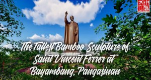 An artist rendition of the tallest bamboo sculpture of Saint Vincent Ferrer