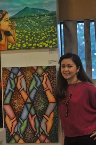 Graphic Designer and Visual Artist Agnes Batallones is one of the local artists highlighted in the Embracing Food and Art Exhibit
