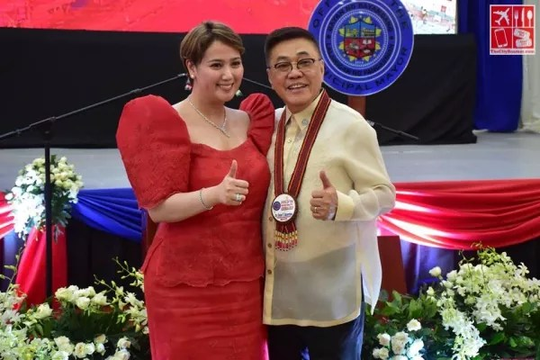 Bayambang Mayor Cezar Quiambao with wife Mrs Nina Jose-Quiambao