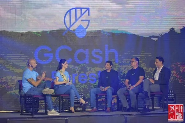 A panel of discussion about GCash Forest at the event launch