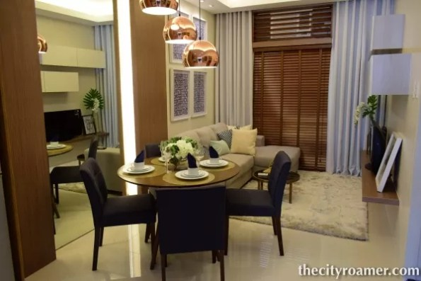 The Showroom - Dining and Living Area setup