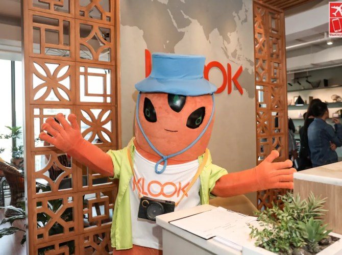 Klookey at the Klook Philippines Manila office
