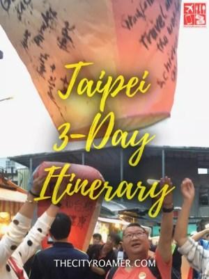Taipei 3-Day Itinerary