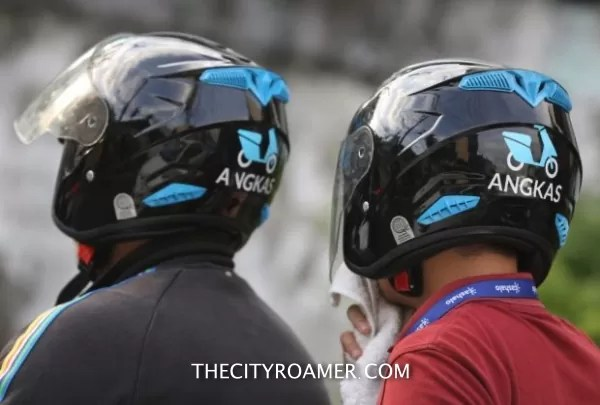 Angkas Helmets worn during the ride