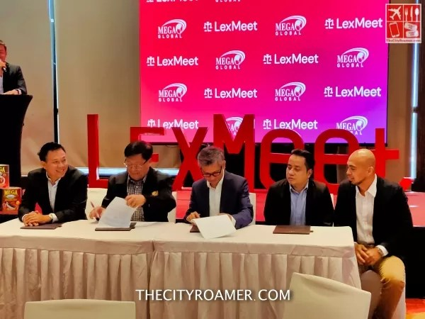 LexMeet and Mega Global Corp executives signing
