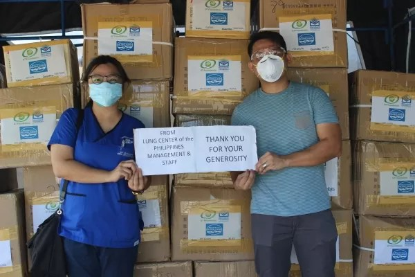 Metrobank and GT Capital Holdings donated PPES at the Lung Center of the Philippines