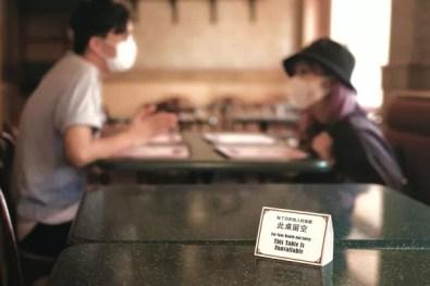 Social distancing at a restaurant