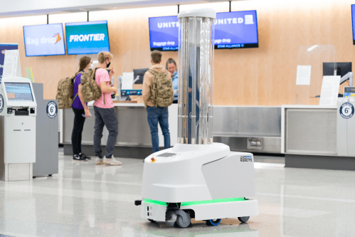 GR Ford International Airport First in US to Introduce UV Disinfecting Robot