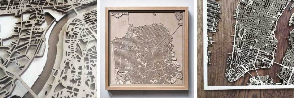 CityWood Map New York wooden wood san francisco