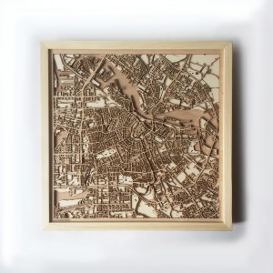 Amsterdam CityWood Minimal Wooden map wood laser cut maps https://thecitywood.com/ CityWood is a wooden map artwork. City streets, water CityWood - Laser Cut Wooden Maps - Award Wining Design by architect and designer Hubert Roguski