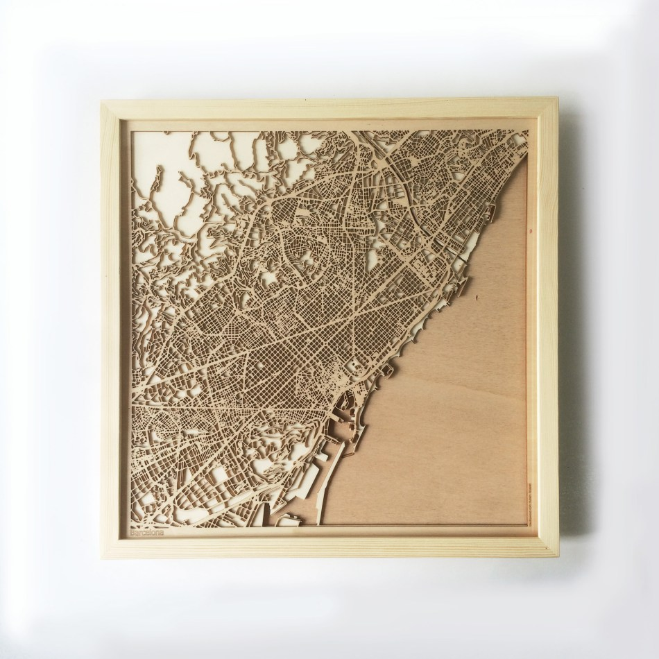 Barcelona CityWood Minimal Wooden map wood laser cut maps https://thecitywood.com/ CityWood is a wooden map artwork. City streets, water CityWood - Laser Cut Wooden Maps - Award Wining Design by architect and designer Hubert Roguski