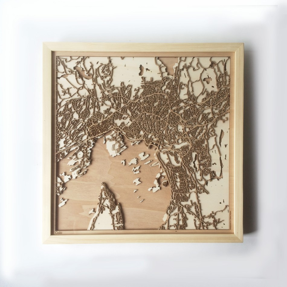 Oslo CityWood Minimal Wooden map wood laser cut maps https://thecitywood.com/ CityWood is a wooden map artwork. City streets, water CityWood - Laser Cut Wooden Maps - Award Wining Design by architect and designer Hubert Roguski