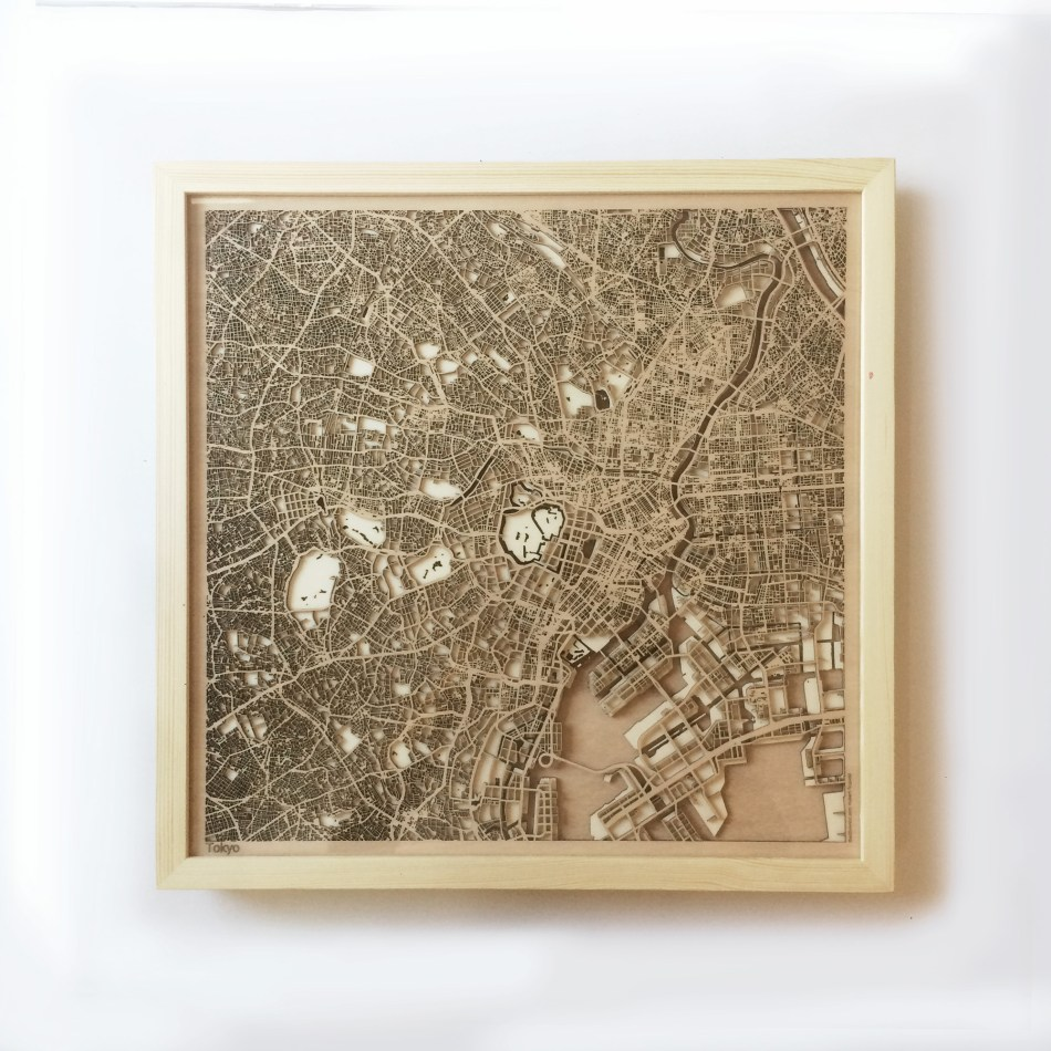 Tokyo CityWood Minimal Wooden map wood laser cut maps https://thecitywood.com/ CityWood is a wooden map artwork. City streets, water CityWood - Laser Cut Wooden Maps - Award Wining Design by architect and designer Hubert Roguski