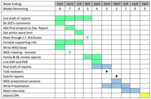 Week-by-week ICE Review preparation timetable
