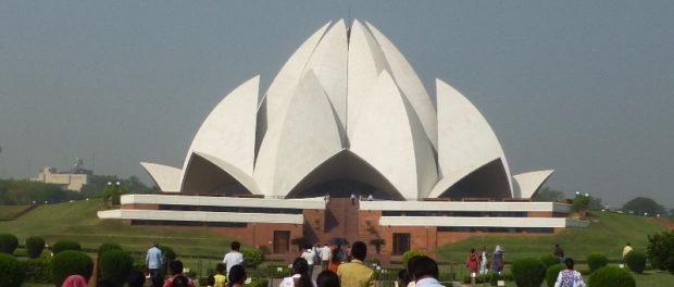 The Lotus Temple in Delhi, India