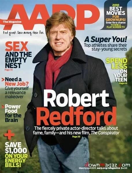 aarp magazine cover robert redford