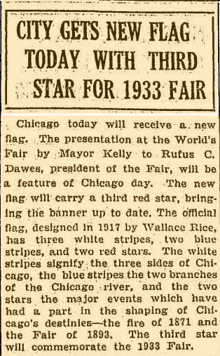 chicago news article third star for flag