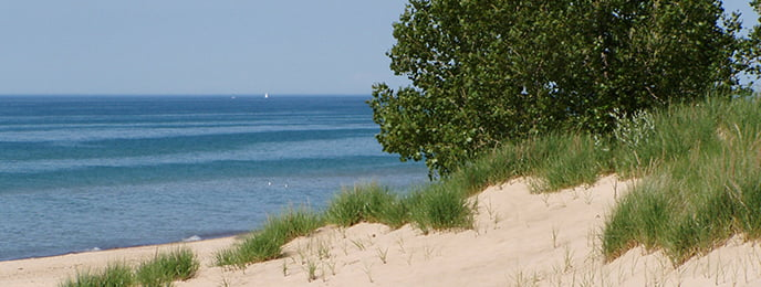 Indiana Dunes National Lakeshore beachfront