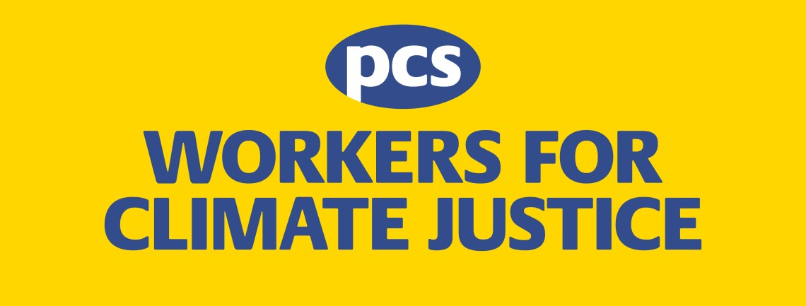 "PCS ""Workers for Climate Justice"" banner image"