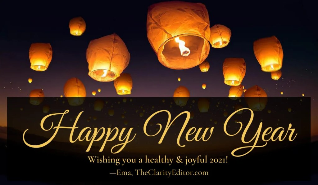 Happy New Year from the Clarity Editor! Wishing you a healthy & joyful 2021. Image of Thai lanterns in the sky, by Viramsinh Thakor from Pixabay.