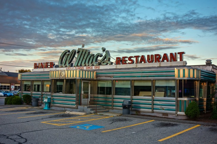 Al Mac's Diner-Restaurant, 135 President Avenue, Fall River, MA. Al Mac's closed for business on July 23, 2012. On the National Register of Historic Places.