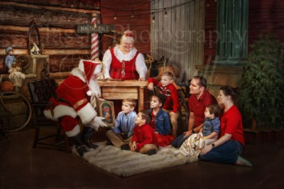 Family with Santa & Mrs Claus